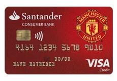 Lån opp til 100.000 ved Santander Manchester United Visa Kredittkort